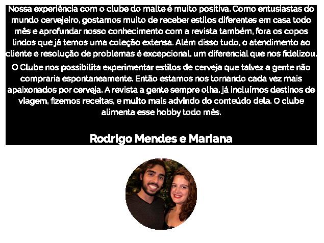 Rodrigo Mendes e Mariana